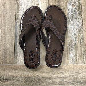 BOC Brown Leopard Size 8 Sandals